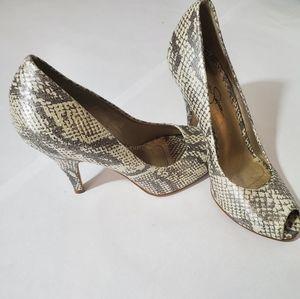 Jessica Simpson Snake print heels